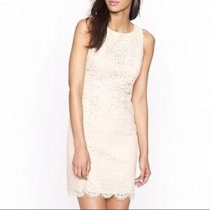 J Crew Tiered Lace Shift Dress